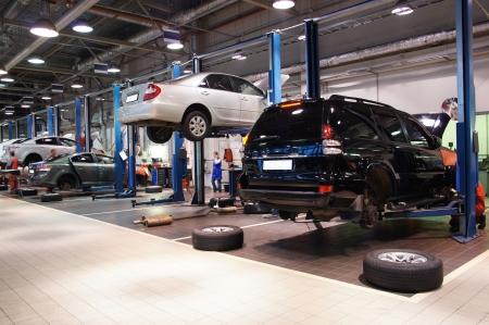 Photo pour Image of a repair garage - image libre de droit