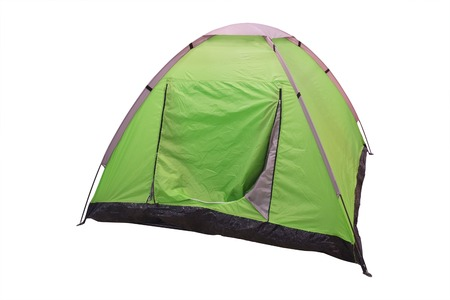 The image of a tent under a white background