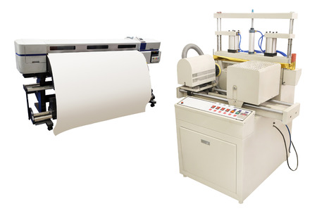 Digital printing machine under the white background