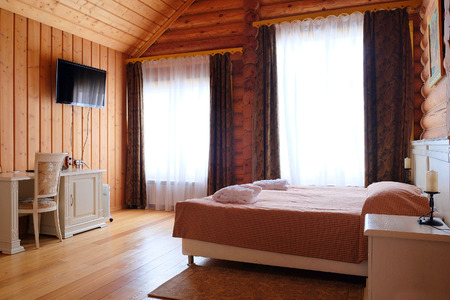 Interior bedroom in a country house