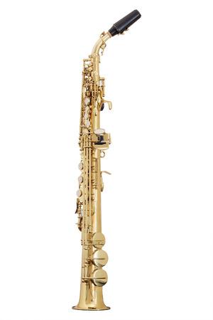 Photo pour classical music wind instrument saxophone - image libre de droit