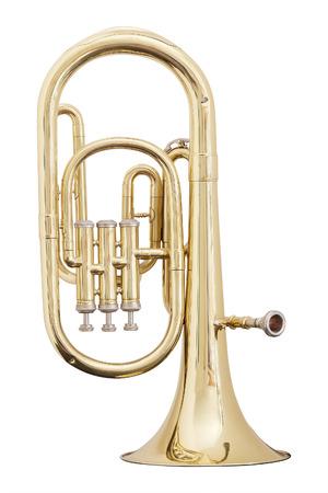 Photo pour classical music wind instrument trumpet - image libre de droit