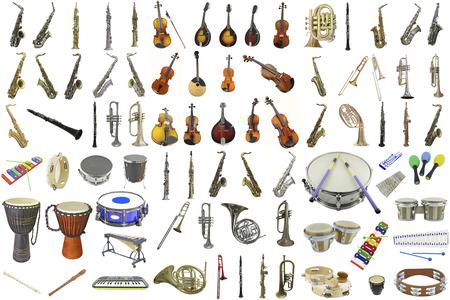 Photo pour The image of different music instruments - image libre de droit