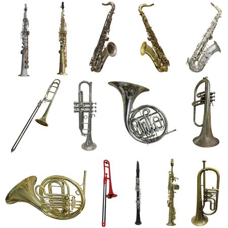 Photo pour saxophone isolated under the white background - image libre de droit