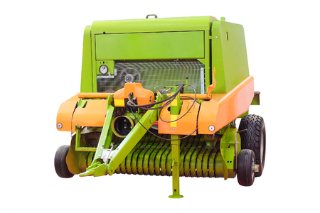 Feed mixer agricultural machine isolated under the white background