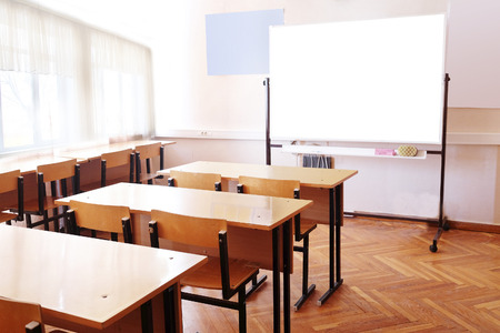 Photo pour An empty classroom - image libre de droit