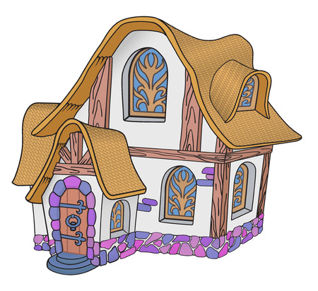 Illustration for Little fairytale house with a tiled roof - Royalty Free Image
