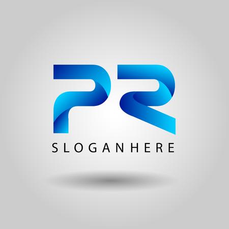 PR letter logotype