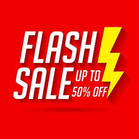 Illustration pour Sale label for banner and poster. Flash sale template - image libre de droit