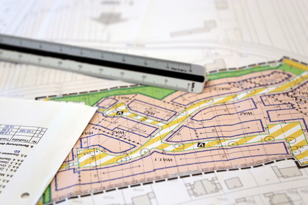 Foto de Urban Development plan, close-up - Imagen libre de derechos