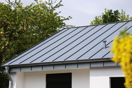 Photo for Metal standing seam roof - Royalty Free Image