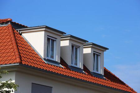 Foto de New tiled roof with dormers - Imagen libre de derechos