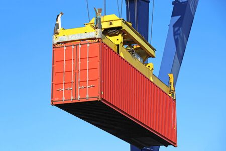 Photo for Close up of the shipment of a container - Royalty Free Image