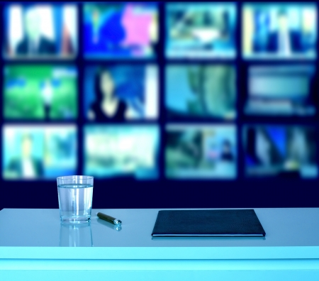 News television broadcasting studio