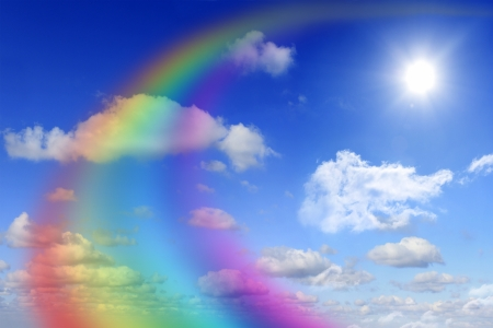 Photo pour rainbow and sky abstract - image libre de droit