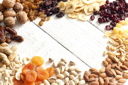 Dainty nuts and dried fruits mix