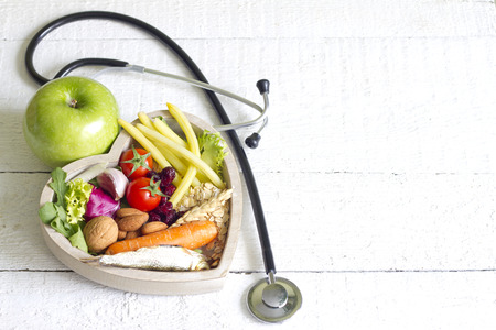 Foto de Healthy food in heart diet abstract concept - Imagen libre de derechos