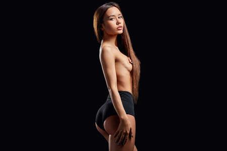 Foto de sexy girl in stylish lingerie background. - Imagen libre de derechos