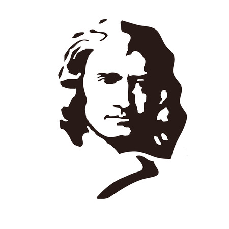 Illustration pour Sir Isaac Newton - English physicist and mathematician, one of the founders of classical physics. - image libre de droit
