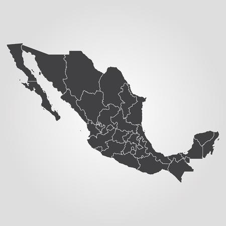 Illustration pour Map of Mexico. Vector illustration. World map - image libre de droit