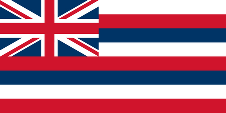 Illustration for Hawaii State Flag. Vector illustration. World map - Royalty Free Image