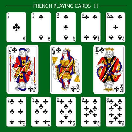 Illustration pour French playing cards suit clubs - image libre de droit