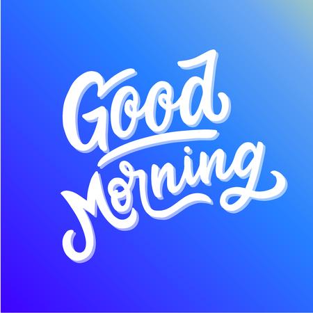 Illustration pour Inspirational motivation quote good morning - image libre de droit