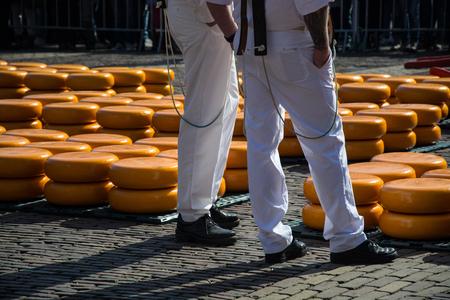 The main attraction of Alkmaar is the cheese market at the Waagplein.