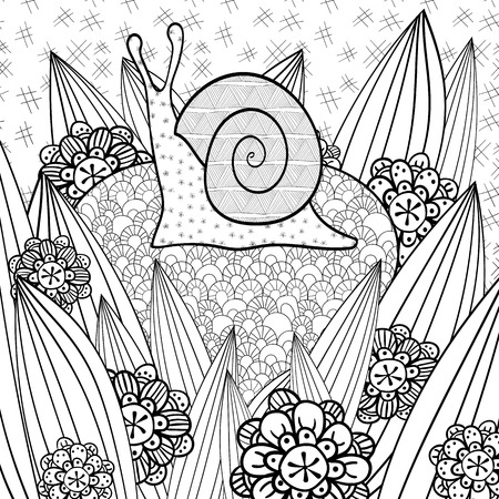 Black White Hand Drawn Flowers Birds Seamless Pattern Whimsical ... | 450x450