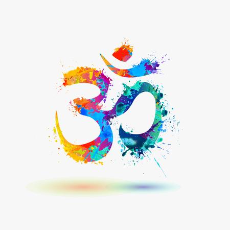 Illustration for Om. Hindu lucky symbol - Royalty Free Image