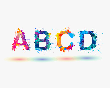 Illustration for Alphabet. Letters A B C D. Colorful - Royalty Free Image