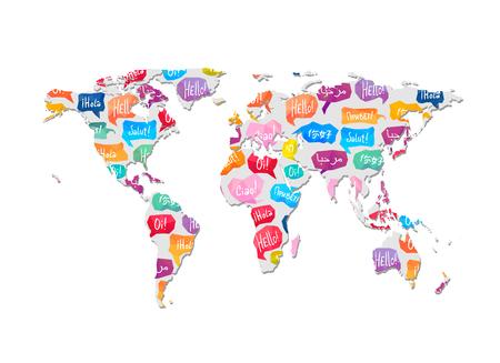 Illustration pour World map with pattern vector illustration. - image libre de droit
