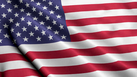Photo pour American Flag Wave for Memorial Day or 4th of July - image libre de droit