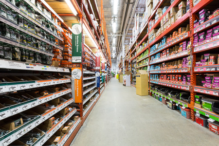 Aisle in a Home Depot hardware store  The Home Depot is the largest american home improvement retailer with more than 120 million visitors annually
