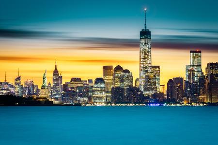 Sunrise over New York City