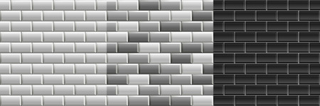 White Glossy Subway Tiles Herringbone