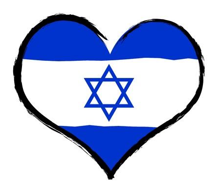 Israel - The beloved country as a symbolic representation as heart - Das geliebte Land als symbolische Darstellung als Herz