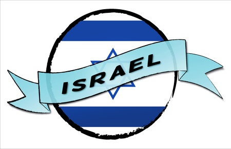 ISRAEL - your country shown as illustrated banner for your presentation or as button...