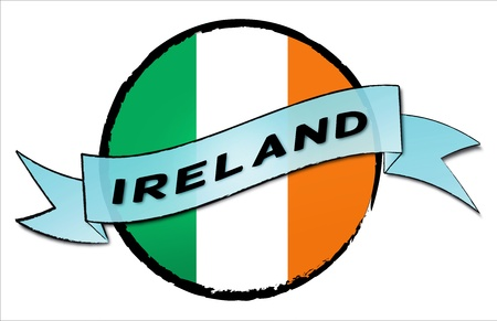 IRELAND - your country shown as illustrated banner for your presentation or as button...