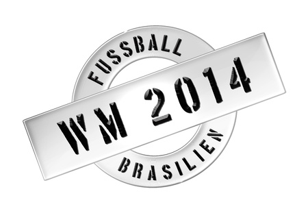 Illustration of the World Cup 2014 in Brazil as Banner for your presentation, website, inviting...