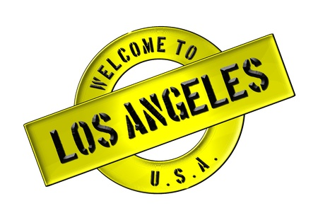 Illustration of WELCOME TO LOS ANGELES as Banner for your presentation, website, inviting...