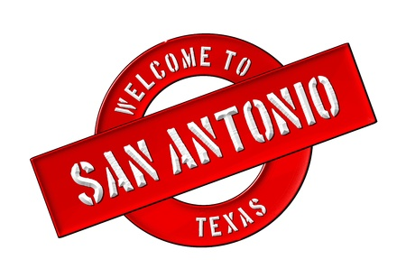 Illustration of WELCOME TO SAN ANTONIO as Banner for your presentation, website, inviting