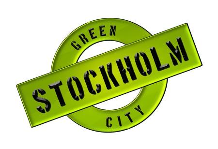 GREEN CITY STOCKHOLM - Zeichen, Symbol, Banner fuer Prospekte, Flyer, Internet, ...