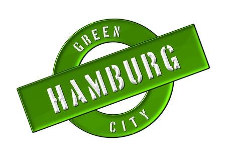 GREEN CITY HAMBURG - Zeichen, Symbol, Banner fuer Prospekte, Flyer, Internet, ...