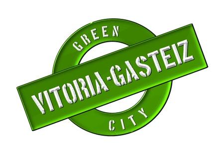 GREEN CITY Vitoria-Gasteiz - Zeichen, Symbol, Banner fuer Prospekte, Flyer, Internet, ...