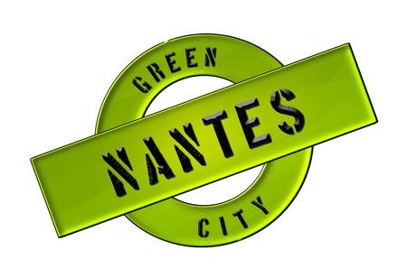 GREEN CITY NANTES - Zeichen, Symbol, Banner fuer Prospekte, Flyer, Internet, ...