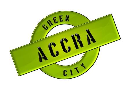 GREEN CITY ACCRA - Zeichen, Symbol, Banner fuer Prospekte, Flyer, Internet,