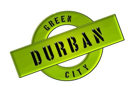 GREEN CITY DURBAN - Zeichen, Symbol, Banner fuer Prospekte, Flyer, Internet,