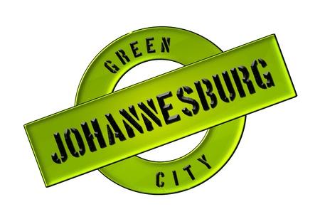 GREEN CITY JOHANNESBURG - Zeichen, Symbol, Banner fuer Prospekte, Flyer, Internet,