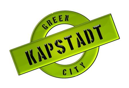 GREEN CITY KAPSTADT - Zeichen, Symbol, Banner fuer Prospekte, Flyer, Internet,